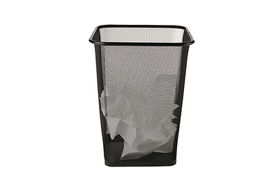 Brighton Professional Black Wire Mesh Square Wastebasket