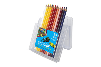 Primo Water Soluble 12 Assorted Colouring Pencils In PP Case