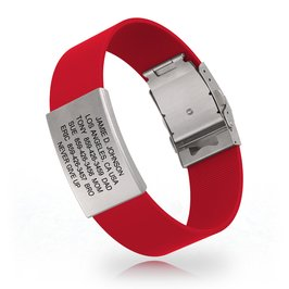 Road ID Wrist ID Silicone Clasp
