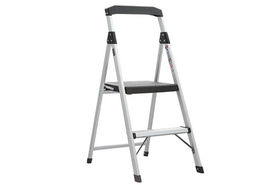 b8e551086a5 Gorilla 2-Step Aluminum Step Stool Ladder with 225 lb. Type II Duty Rating