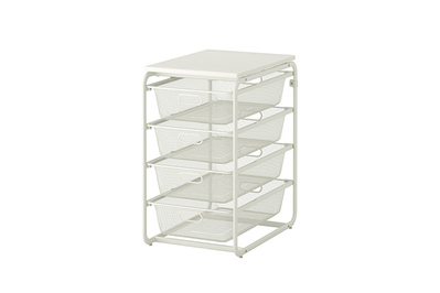 IKEA Algot Frame with 4 Mesh Baskets/Top Shelf