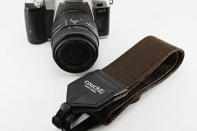 Couch Dark Brown Western Camera Strap