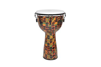 Key-Tuned Kente Cloth Royal Djembe from X8