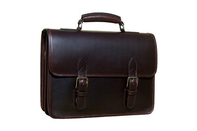 Custom Hide Organizer Laptop Briefcase