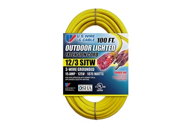 US Wire 74100 100-foot Extension Cord