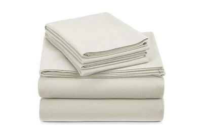 Pinzon Signature 190-Gram Cotton Velvet Flannel Sheet Set