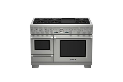 Thermador 48 Inch Professional Series Pro Grand Commercial Depth Dual Fuel  Steam Range (PRD48JDSGU