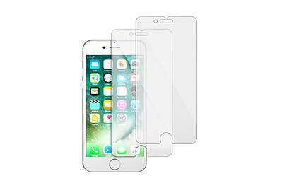 innovative design bb727 1be69 TechMatte amFilm Tempered Glass Screen Protector for iPhone 8/7/6s/6