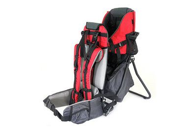 Clevr Baby/Child Back Pack Cross Country Carrier Stand with Sun Shade Visor Shield Red