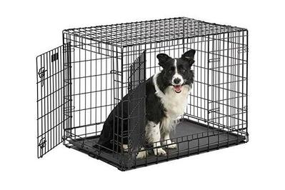 midwest ultima pro double door folding dog crate