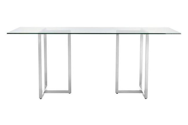 CB2 Silverado Chrome 80″ Rectangular Dining Table