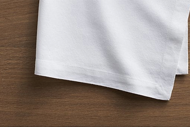 Crate And Barrel Abode White Cloth Dinner Napkin