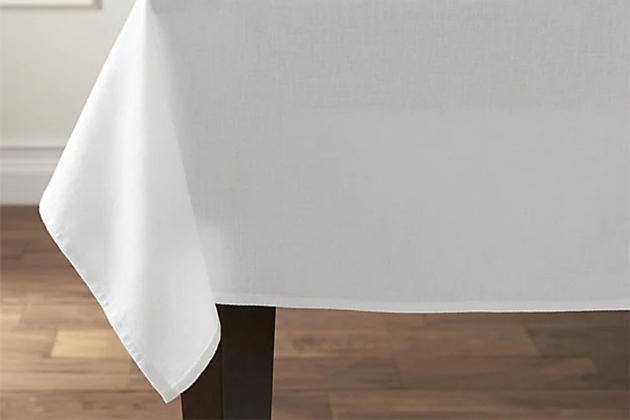 Crate and Barrel Abode White Tablecloth