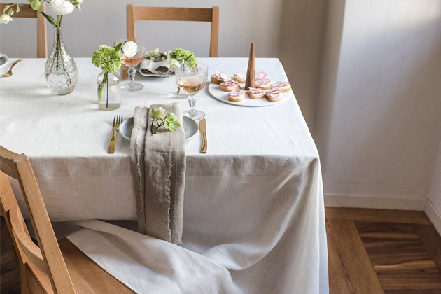 Rough Linen Smooth Tablecloth