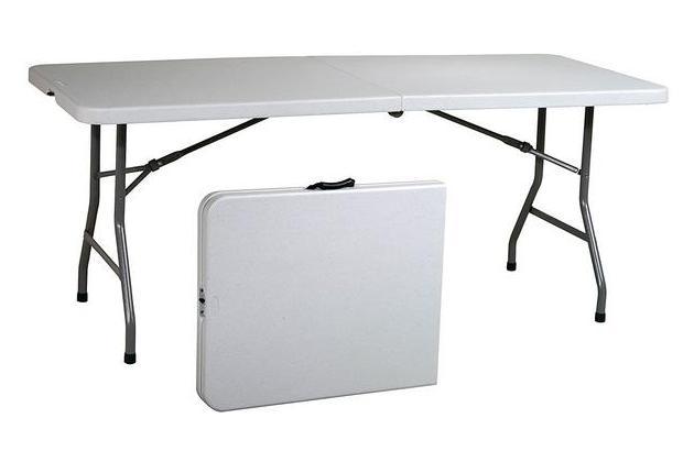 Office Star Resin Multipurpose Rectangle Table, 6-Feet, Center