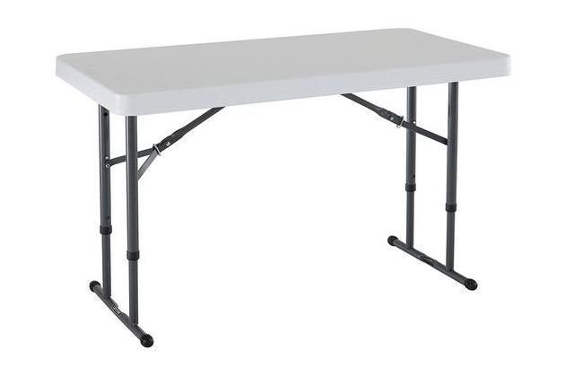 Lifetime 80160 Commercial Height Adjustable Folding Utility Table, Four Feet