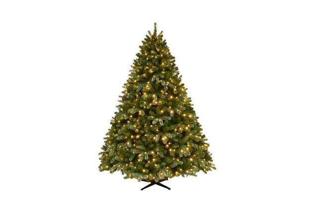 Home Accents Holiday 7.5 ft. Pre-Lit Grand Fir Quick Set Artificial Christmas Tree with Supernova Color Changing Lights