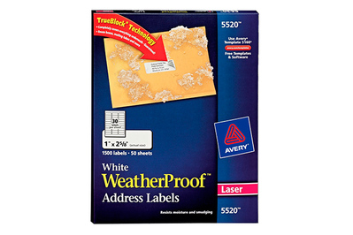 Avery White WeatherProof