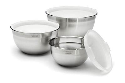 Cuisinart Stainless Steel Mixing Bowls with Lids