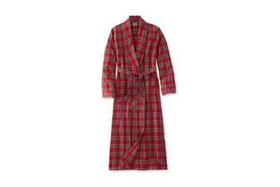 L.L. Bean Women s Scotch Plaid Flannel Robe 4ad727957