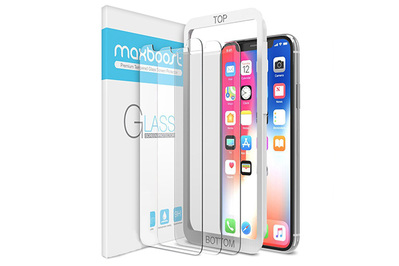 info for ec980 0e2a4 Maxboost Premium Tempered Glass Screen Protector for iPhone X and XS