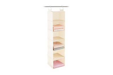 6e8e7fee8c81d The Container Store 6-Compartment Natural Canvas Hanging Sweater Organizer