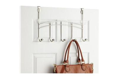 Spectrum Nickel Duchess 5-Hook Over the Door Rack
