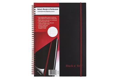 Black n' Red Wirebound Notebook
