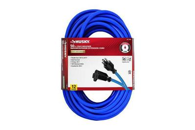 Husky 50 FT Cold Weather Indoor Outdoor Extension Cord