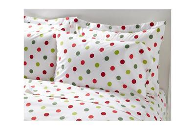 Garnet Hill Polka-Dot Percale Sheet Set