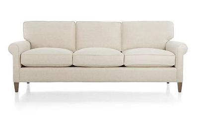 Remarkable Crate And Barrel Montclair 3 Seat Roll Arm Sofa Uwap Interior Chair Design Uwaporg