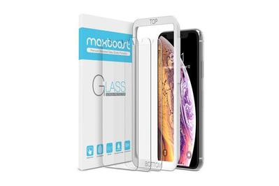 Maxboost Premium Tempered Glass Screen Protector for iPhone XS Max