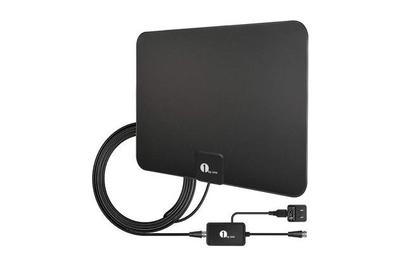 1byone Power Supply for HDTV Antenna,Dual Outputs Support More Than One TV or Device Black