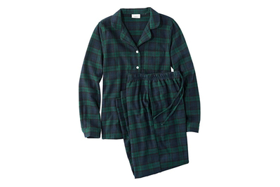 L.L.Bean Women's Scotch Plaid Flannel Pajamas