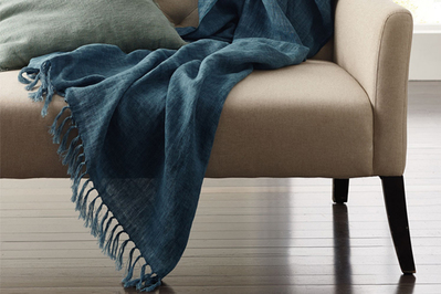 The Company Store Linen Fringed Throw