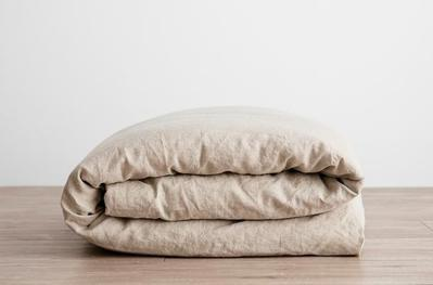 Cultiver Linen Duvet Cover with Pillowcases