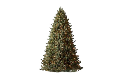 Balsam Hill 7.5-foot Vermont White Spruce Flip Tree Color + Clear LED