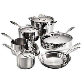 Tramontina Gourmet 12-Piece Tri-Ply Clad Cookware Set