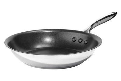 Ozeri 10-Inch Stainless Steel Pan with Nonstick Coating