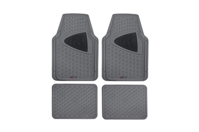 QUALITY SET OF THICK BLACK NON SLIP PROTECTION RED CAR MATS CARPET