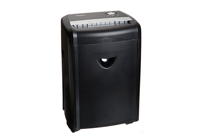 AmazonBasics 12-Sheet High-Security Micro-Cut Paper/CD/Credit Card Shredder with Pullout Basket