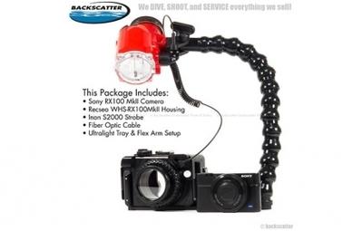 Backscatter Sony RX100 Mk II Underwater Housing Package Builder