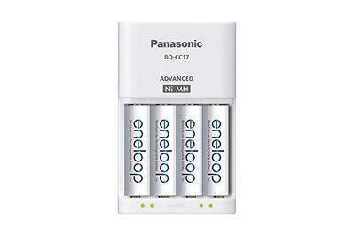 Panasonic Advanced Individual Cell Battery Charger with Four Eneloop batteries