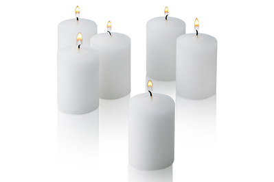 Light In The Dark 15 Hour White Unscented Votive Candles