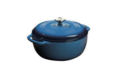 Lodge Color 6-Quart Enameled Cast Iron Dutch Oven