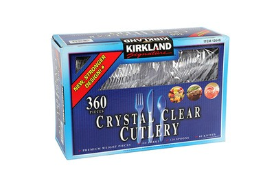 Kirkland Signature Crystal Clear Cutlery