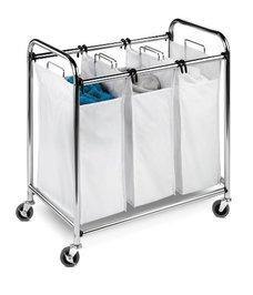 Honey-Can-Do SRT-01235 Heavy-Duty Triple Laundry Sorter
