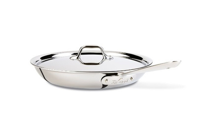 All-Clad D3 Stainless 12″ Fry Pan with Lid