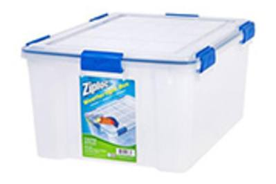 Ziploc 60 Qt Large Deep Weathertight Storage Box