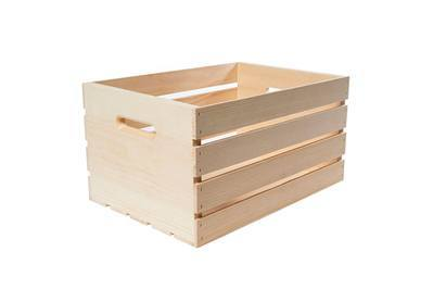 Crates & Pallet 18 in. x 12.5 in. x 9.5 in. Large Wood Crate